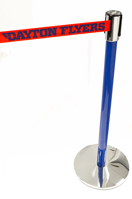 Tensabarrier Dayton Flyers Custom Stanchion Post